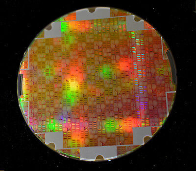8 inch Silicon Wafer: Texas Instruments DAC8770 precision 12 bit analog chips