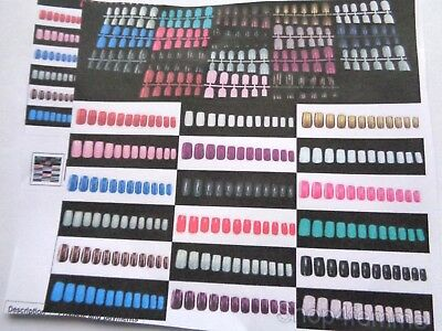 24 Coloured Short European Full Cover False Nails - 19 Colours Availible