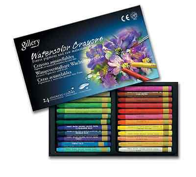 Watercolor Crayons Mungyo Non-TOXIC 24 Assorted Colors Crayons 24 Colors