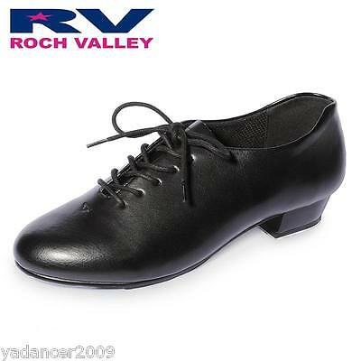 Roch Valley Oxford Jazz Tap Shoes Fitted Heel AND Toe Taps Child & Adult Sizes