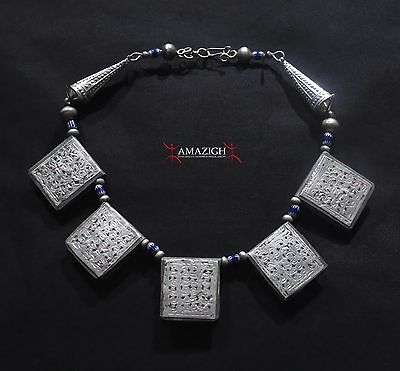 Old Berber Necklace – Talisman Boxes - Bani Region, South Morocco