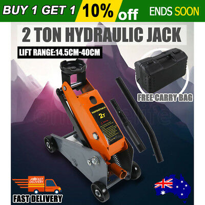 2 Ton 2T Hydraulic Trolley Jack Lifts 2000kg Low Profile Car SUV 4WD Carry Case