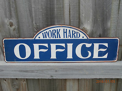 METAL repro Office Shop SIGN  antique vintage Victorian Industrial decor Cafe