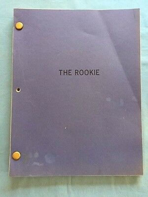 The Rookie - Revised Script For Clint Eastwood Film