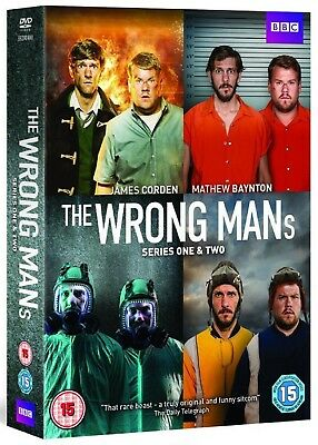 The Wrong Mans Series 1 & 2 [BBC] (DVD)~~~~James Corden~~~~NEW & SEALED