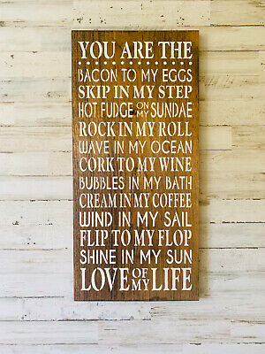"Large Rustic Wood Sign - ""You Are..."" Fixer Upper, HGTV, DIY, Primitive, Wedding"