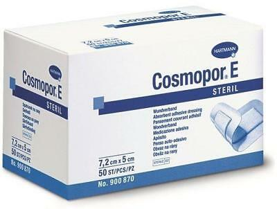 Cosmopor E Sterile Adhesive Wound Dressings 7.2cm x 5cm x 50 Surgical Cuts Burns