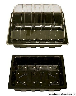 5 x Half Size Plant Seed Propagator Tray With Lid