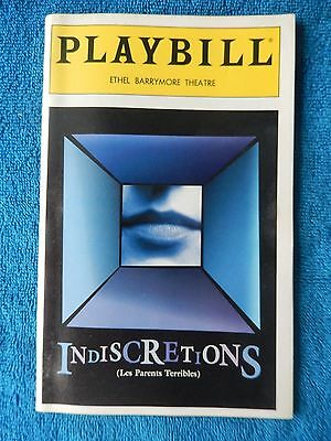 Indiscretions - Ethel Barrymore Playbill - Opening Night - April 27th, 1995