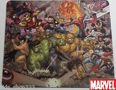 MARVEL COMICS EXPLOSION !! Anti slip optical COMPUTER MOUSE PAD 9 X 7inch