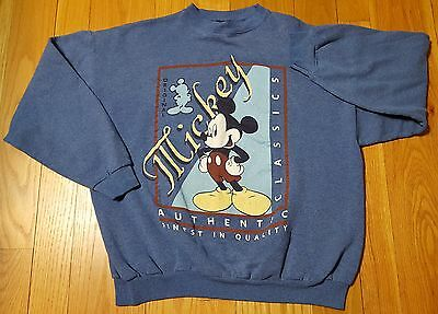 VINTAGE 90'S DISNEY UNLIMITED JERRY LEIGH MICKEY MOUSE XL SWEATSHIRT womens MINT