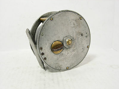 """Vintage Antique Early Farlow Patent 2336 4"""" Alloy Salmon Fly Fishing Reel"""