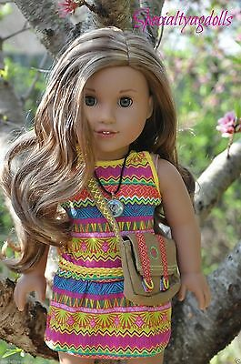 American Girl Lea Clark Doll Book Necklace & Messenger Bag Leah New