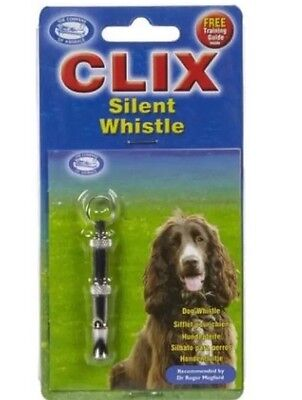CLIX Silent Dog Whistle ~ Ideal for Noise-Sensitive Breeds ~ Free Training Guide