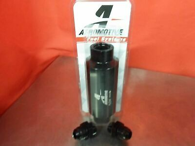 Aeromotive RACING 12324 100 MICRON ORB-10 BLACK FUEL FILTER WITH 10-AN FITTINGS