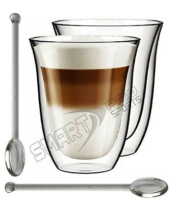 4 x 300ml Latte Glasses Cups Mugs sets for Coffee Tea Cappucino