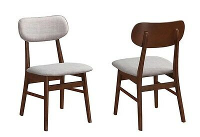 Chestnut Dining Chair with Off White Upholstery by Coaster 105912 - Set of 2