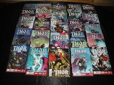 Thor God Of Thunder 1 -25 Full Set 1 Acuna 1:50 Variant 1 2 3 4 5 6 7 8 9 -15-24
