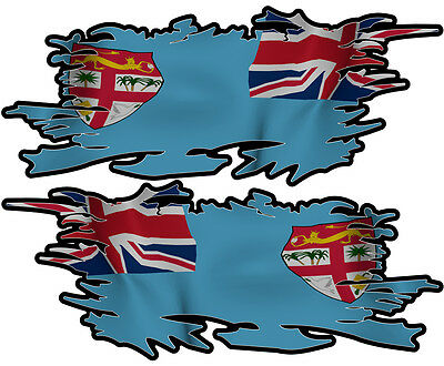 Figi  Ripped Flag Left & Right 100Mm By 40Mm Gloss Laminated
