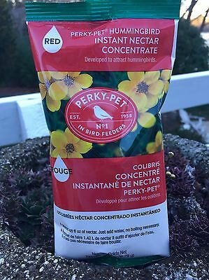 HUMMINGBIRD FOOD ~ INSTANT NECTAR CONCENTRATE ~ by Perky-Pet, Makes 48 oz. food!