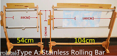 New Adjustable Cross stitch/Embroidery/Tapestry Stainless Roller Bar Frame54-104