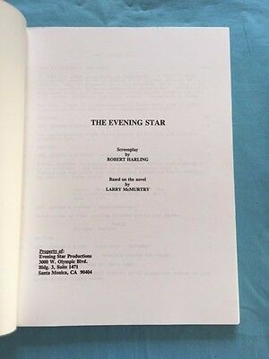 The Evening Star - Office Copy Of Script Adapted From Larry Mcmurtry's Novel