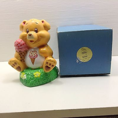 1985 Care Bears Cousins Treat Heart Pig Bank 55016 Ice Cream Cone NOS in BOX