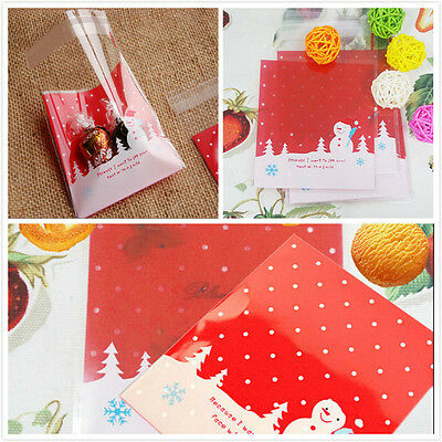 10PCs Cards Cookies Gift Packaging Bags Christmas Decoration Bag Only Hot0215