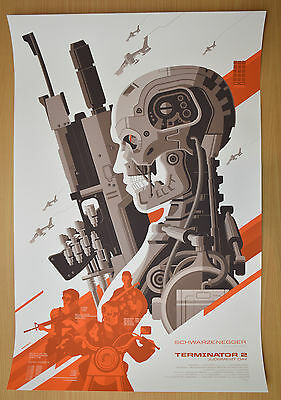 Terminator 2 Judgment Day Movie Poster Screen Print 2014 Art Official Only 425
