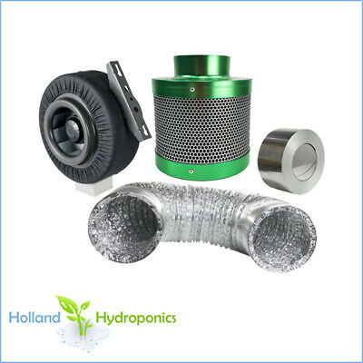 "5"" 125mm Filtaroo Hydroponics Carbon Filter Centrifugal Fan Ventilation Combo"