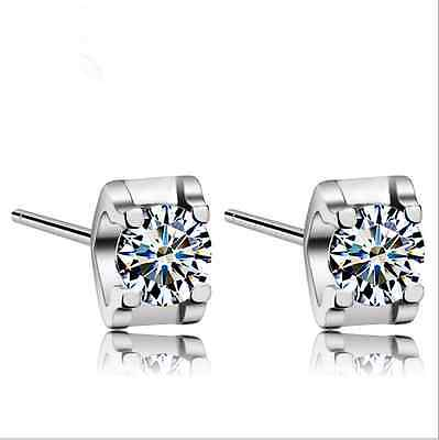 925 Sterling Silver AAA Zircon ear stud earrings women's fashion jewelry