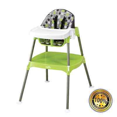 Convertible High Chair Baby Table Seat Booster Toddler Feeding Evenflo 3 in 1
