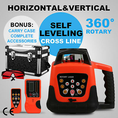Self-Leveling Red Rotary Laser Level Auto Control 500M Range Horizontal Vertical
