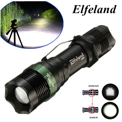 7000lm 7W T6 LED Zoomable Focus 18650/AAA Flashlight Torch Light Lamp