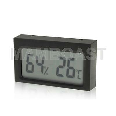 Mini LCD Indoor Digital Thermometer Humidity (Black)