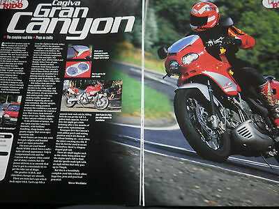 "Cagiva Gran Canyon # 2 Page ""first Ride"" Original Motorcycle Article"