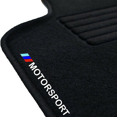 tapis sol moquette logo m motorsport sur mesure bmw serie 3 e90 e91 320i 320d eur 59 99. Black Bedroom Furniture Sets. Home Design Ideas