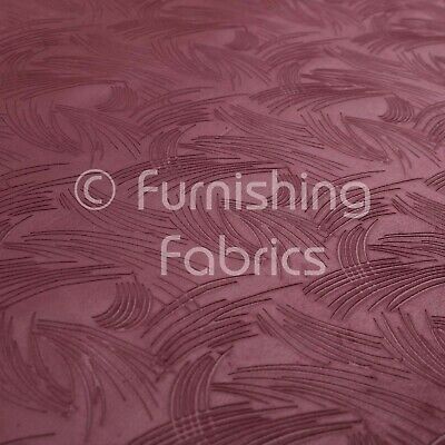 New Purple Aubergine Colour Moleskin Textured Soft Material Upholstery Fabrics