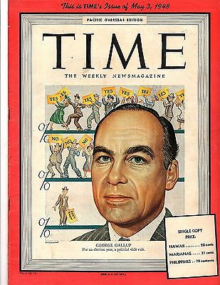 Time Magazine Pacific Overseas Edition, 1948, May 3, George Gallup