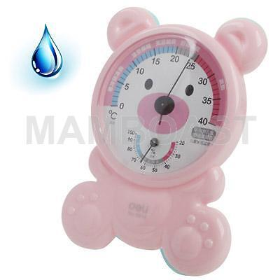 Kid salle thermo-hygrometre avec support, rose
