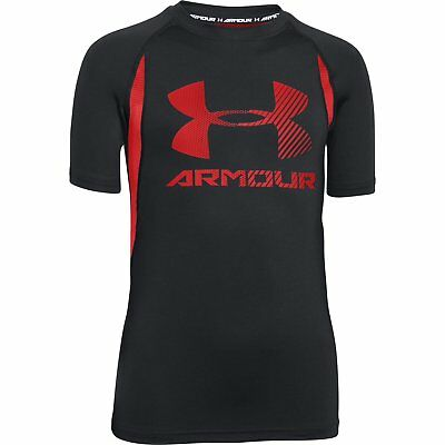 Boy's Under Armour HeatGear Armour Up Digi Fitted Short Sleeve Shirt