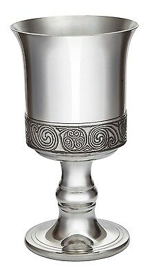 Pewter Wine Goblet Kells Design. By Wentworth of Sheffield