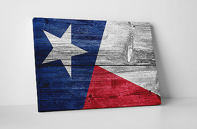 """Vintage Texas State Flag Gallery Wrapped Canvas Print. 30""""x20 or 20""""x16"""""""