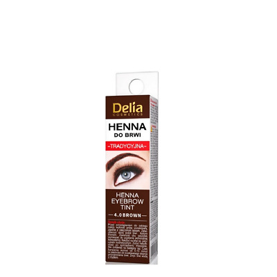 Delia Traditional Henna Professional quality Eyebrow Eyelashes 4.0 Brown 2 ml