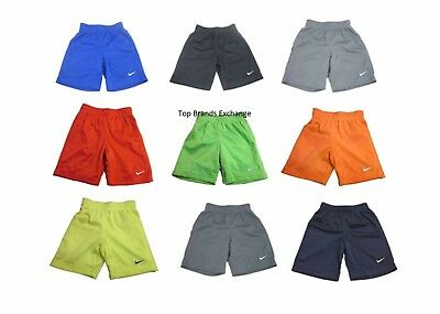 Boys Toddler Nike Mesh Athletic Dri Fit Shorts Black Blue Gray Red White 2-4T
