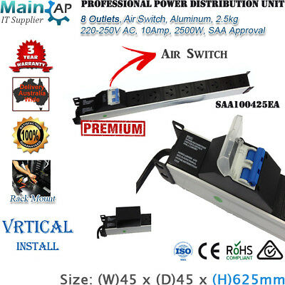 8 Outlets Vertical Rack Mount Power Distribution Unit Pdu With Air Switch