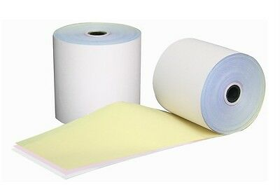 100 Rolls 76x76mm 3 Ply W/P/Y Bond Paper, Cash Register, Receipt Rolls