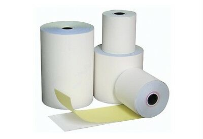 250 Rolls 76x76mm 2 Ply White/Yellow, Bond Paper, Cash Register, Receipt Rolls