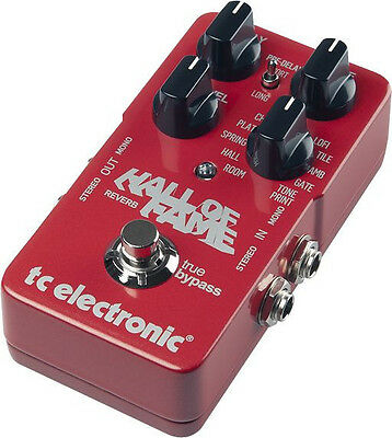 TC Electronic Hall of Fame Reverb Spring Hall Church Room Guitar Effects Pedal