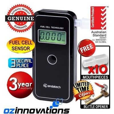 ANDATECH AlcoSense AL9000 Stealth Fuel Cell Alcohol Tester Breathalyser